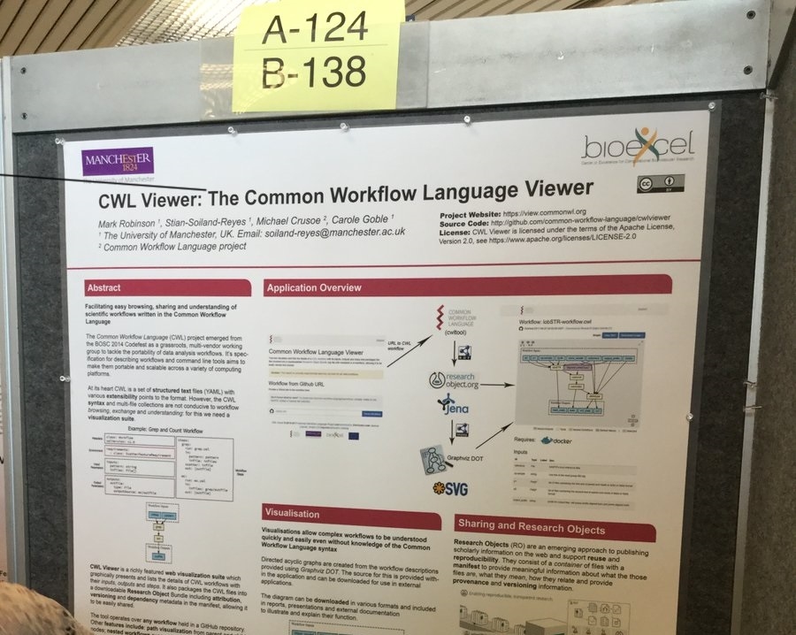 F1000 Poster Award to BioExcel's CWL Viewer at ISMB