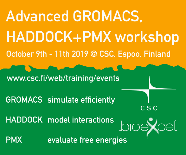 Advanced GROMACS, HADDOCK + PMX Workshop