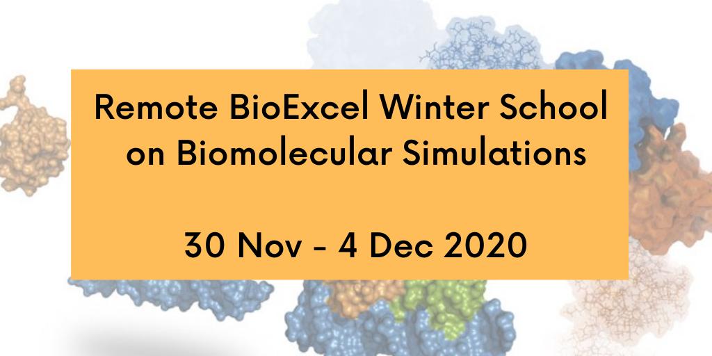 Remote Winter School on Biomolecular Simulations 30 Nov - 3 Dec 2020