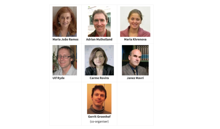 6 researchers in a grid format