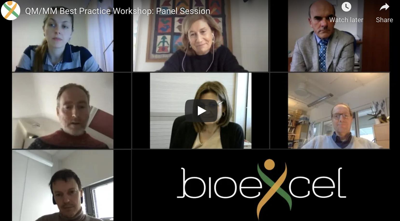 7 people in frame with bioexcel logo